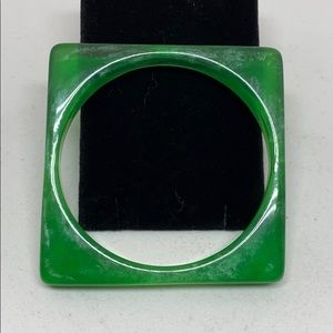 Very cool square green lucite bracelet
